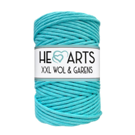 Hearts single twist 4.5 mm turquoise (100m)