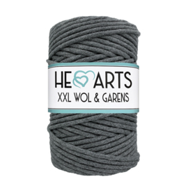 Hearts single twist 4.5 mm darkgrey (100m)