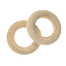 Blanke houten ring 20 mm