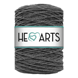Hearts double twist 3 mm charcoal
