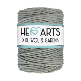 Hearts single twist 4.5 mm grey rainbow (200m)