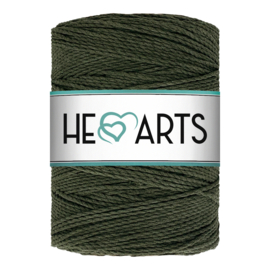 Hearts double twist 3 mm dark olive