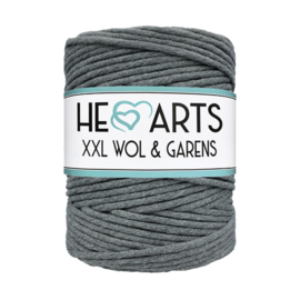 Hearts single twist 4.5 mm darkgrey (200m)