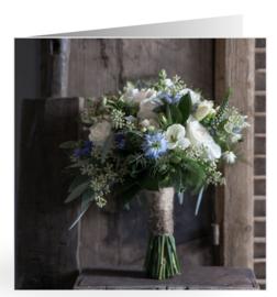 Mooie dubbele kaart bruidsboeket