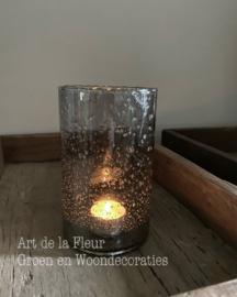 Cilinder glas Stones Grey  10 x 16