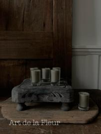 Votive candle taupe set 6