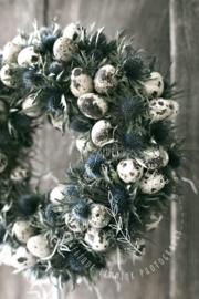 Distelkransje met eitjes 25 cm
