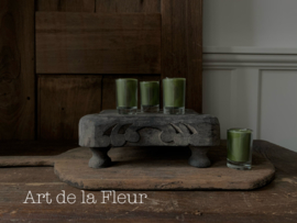 Votive candle green set 6