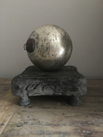 Kerstbal zwaar glas mat 13 cm doorsnede