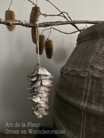 Nature grey iron pine flower hanger light