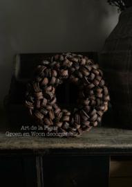 Krans 38 cm mooie bruine natuurlijke kleur