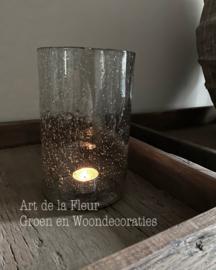 Cilinder glas Stones clear XL 12 x 21 cm