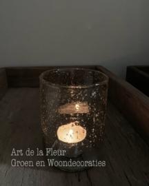 Cilinder glas Stones clear 8 x 11 cm