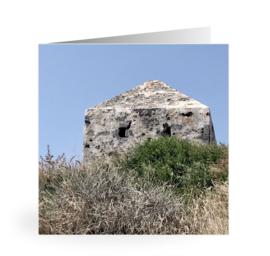 Luxe dubbele kaart 14 x 14   GREECE  mat incl witte envelop