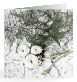 Mooie dubbele kaart asparagus met ranonkelbloem