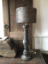 Lamp  incl velvet kap hoogte 64 cm