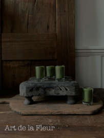 Votive candle green set 6