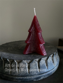 Tree Candle  Red S 8.5 x 6.5