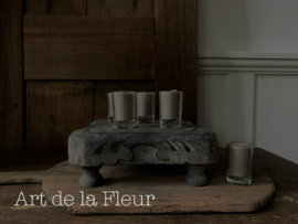 Votive candle taupe set 6