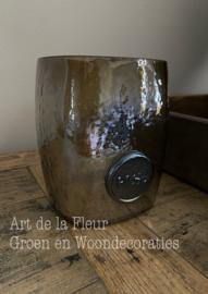 Vaasje van Dik Gerecycled Glas