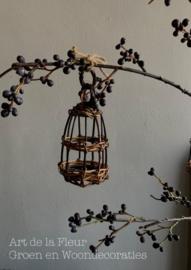Rieten vogelkooitje