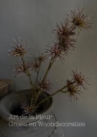 Thistle Spray Aubergine  65 cm