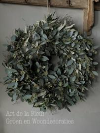 Xl krans div soorten lang houdbaar groen 50 a 55 cm
