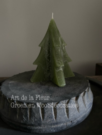 Tree Candle green M 12 x 9.5