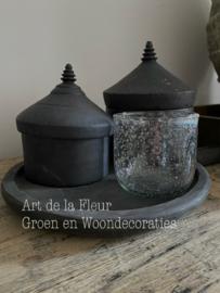 Glazen Windlicht round Stones 10 x 10 cm
