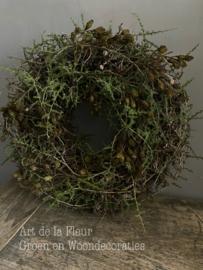 Bonsaikrans met Wilde Asparagus en twee Kunsttakken Elzepropjes