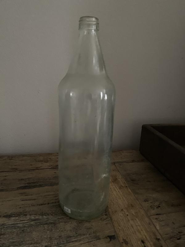 Oud Sleets Glazen Fles