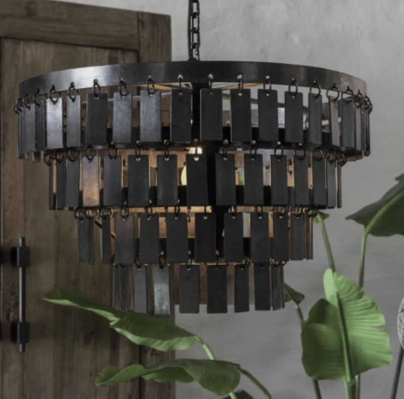 Landelijk metalen hanglamp  Dean