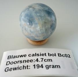 Blauwe Calsiet bol 4.7 cm