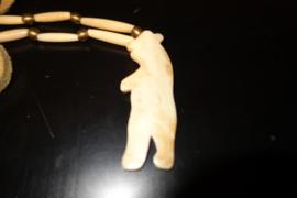 Halsketting van hertenbeen  Indian Kraft