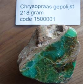 Chrysopraas gepolijst