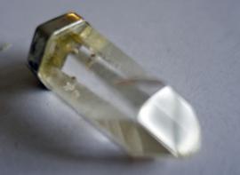 Fantoom kristalhanger in zilver gezet  4 cm