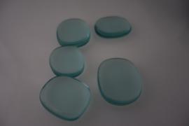 Massage en knuffel steen Bergkristal bleu