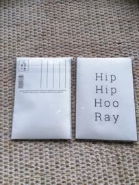 Geur kaart hip hip hoo ray
