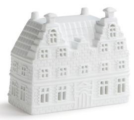 Waxinelichthouder trapgevel duo - 13 cm