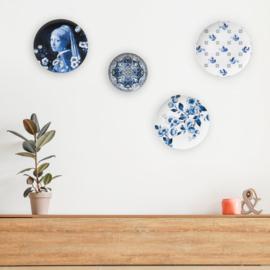 Wandbord Delfts Blauw Molen - Ø 26,5 cm