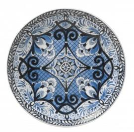 Wandbord Bloem Symmetrie - Ø 16 cm