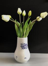Delfts blauwe vaas met fiets | Mét Kunst Tulpen | Type 1