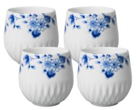 Espressokopjes Blauw Vouw - Set van 4