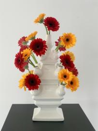 Tulpenvaas wit - groot - 40 cm