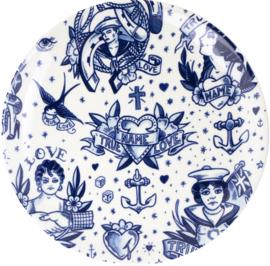 Wandbord - Delfts blauw - Schiffmacher - Royal Delft - Ø 28 cm