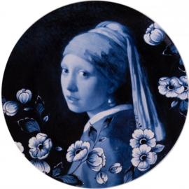 Wandbord Meisje met de Parel - Ø 26 cm