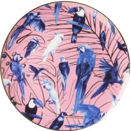 Wandbord Tropische Vogels - Ø 31,5 cm