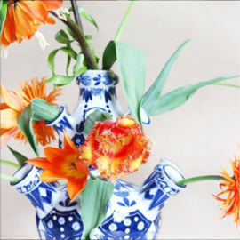 Tulpenvaas Delfts blauw - Groot - 42 cm