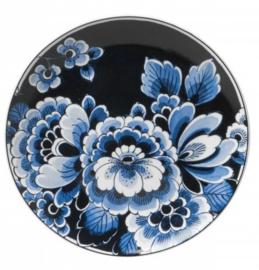 Wandbord Blauwe Bloem - Ø 20 cm