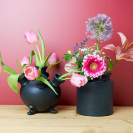 Tulpenvaas zwart - 15 cm